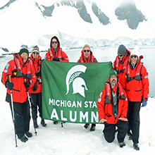 Photo of Expedition to Antarctica with MSU Professor Dr. William Porter