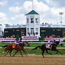 Photo of Kentucky Derby with MSU Professor Dr. Brian Nielsen