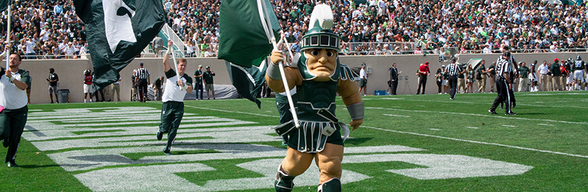 Sparty with flag